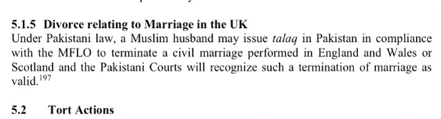 Husband can Divorce in Pakistan if marriage registered in UK